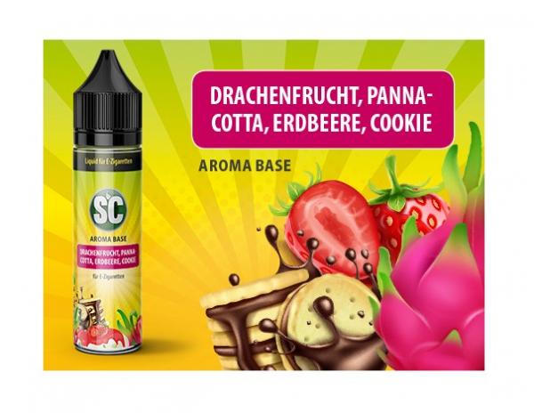 Drachenfrucht, Panna-Cotta, Erdbeere, Cookie